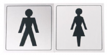 Sticker, Latrine - Male and Female - 200 pce